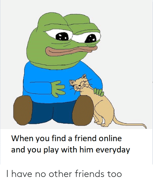 No Other: When you find a friend online  and you play with him everyday I have no other friends too