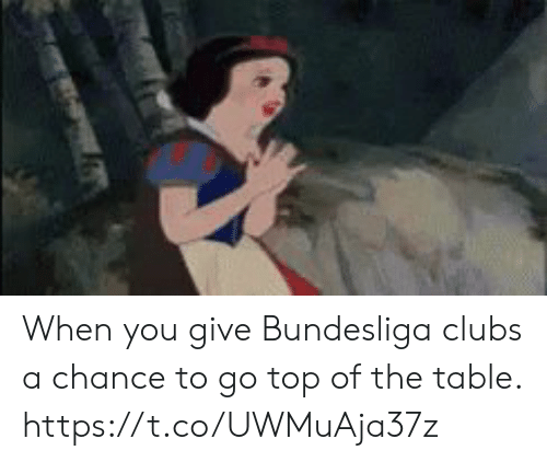 bundesliga: When you give Bundesliga clubs a chance to go top of the table.   https://t.co/UWMuAja37z