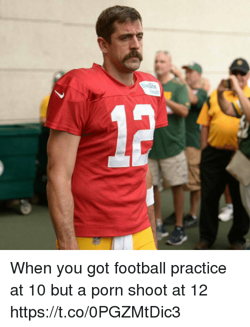 Porning: When you got football practice at 10 but a porn shoot at 12 https://t.co/0PGZMtDic3