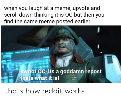 When You Laugh at a Meme Upvote and Scroll Down Thinking It
