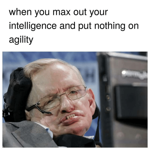 Intelligence, You, and When You: when you max out your  intelligence and put nothing on  agility