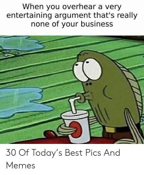 Memes, Best, and Business: When you overhear a very  entertaining argument that's really  none of your business 30 Of Today's Best Pics And Memes