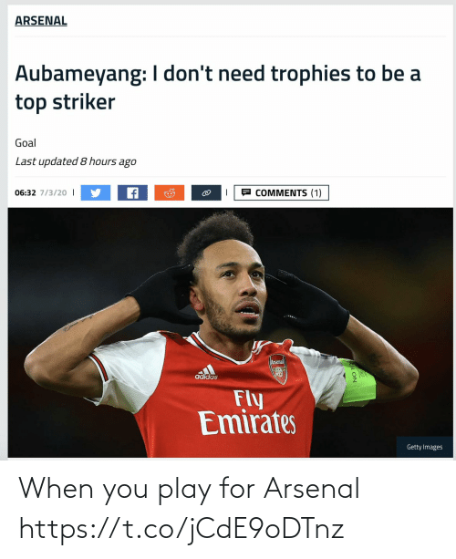 when you: When you play for Arsenal https://t.co/jCdE9oDTnz