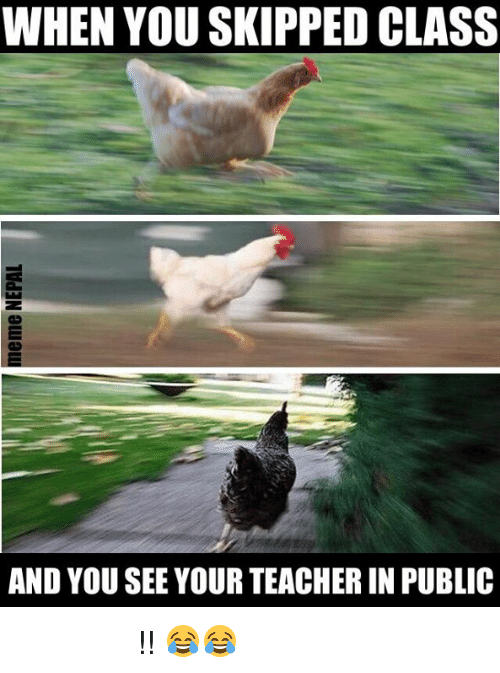 skipping class: WHEN YOU SKIPPED CLASS  AND YOU SEE YOUR TEACHER IN PUBLIC भाग भैरे भाग !! 😂😂
