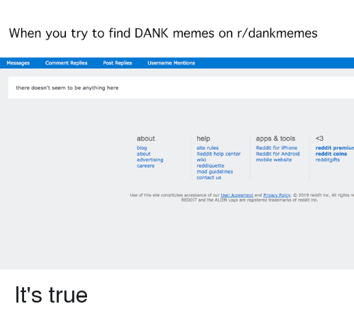 When You Try to Find DANK Memes on Rdankmemes Messages