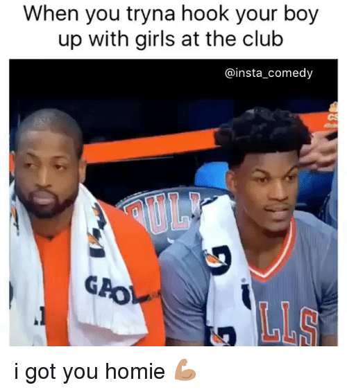 Insta Comedy: When you tryna hook your boy  up with girls at the club  @insta comedy i got you homie 💪🏽