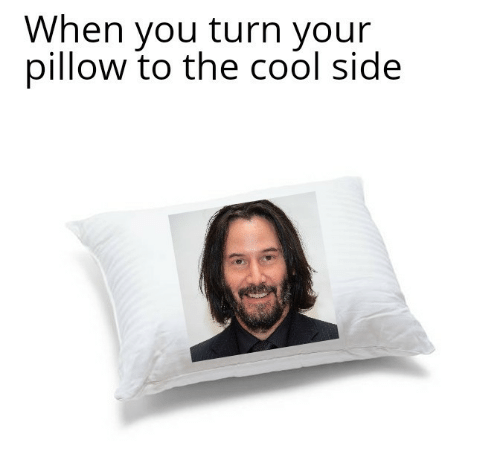 Cool, Pillow, and You: When you turn your  pillow to the cool side  AUAC