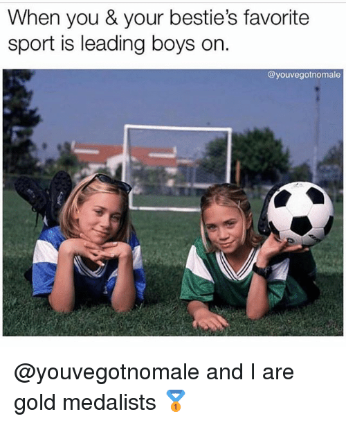 Grindr, Boys, and Gold: When you & your bestie's favorite  sport is leading boys on.  @youvegotnomale @youvegotnomale and I are gold medalists 🥇