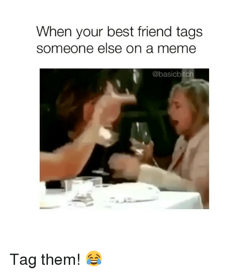 Best Friend, Meme, and Best: When your best friend tags  someone else on a meme  @basicbitch Tag them! 😂