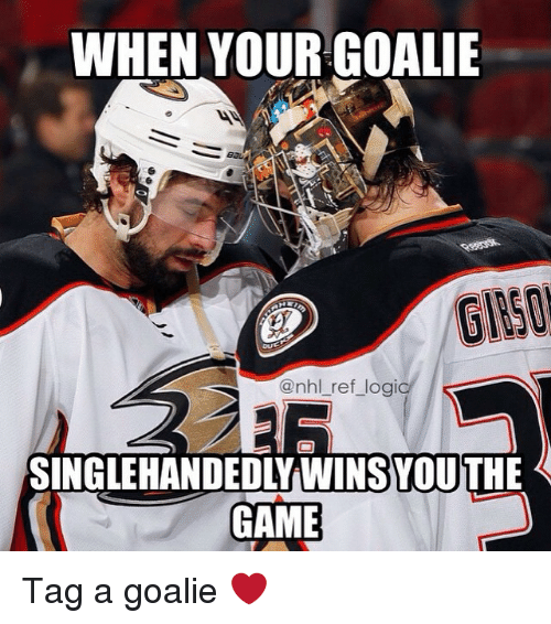 When Your Goalie Singlehandedlywins Youthe Game Tag A Goalie
