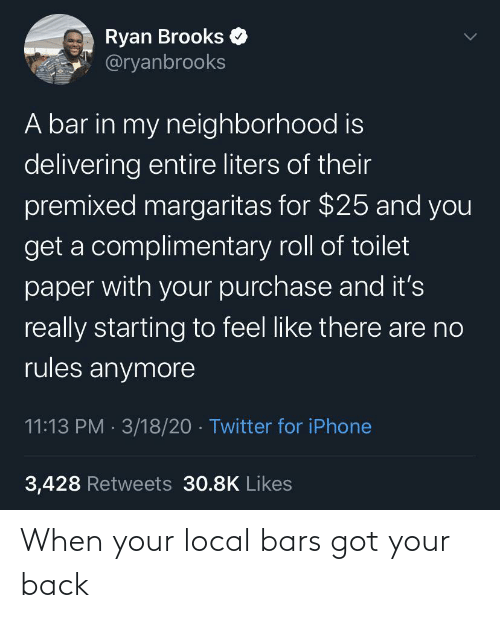 Bars: When your local bars got your back