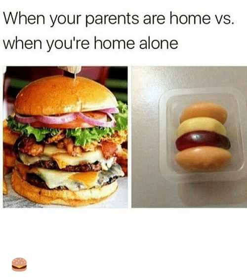 Aloner: When your parents are home vs.  when you're home alone 🍔