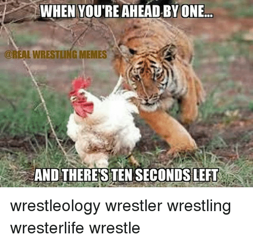 Wrestling Memes: WHEN YOU'RE AHEAD.BY ONE...  @REAL WRESTLING MEMES  AND THERES TEN SECONDS LEFT wrestleology wrestler wrestling wresterlife wrestle