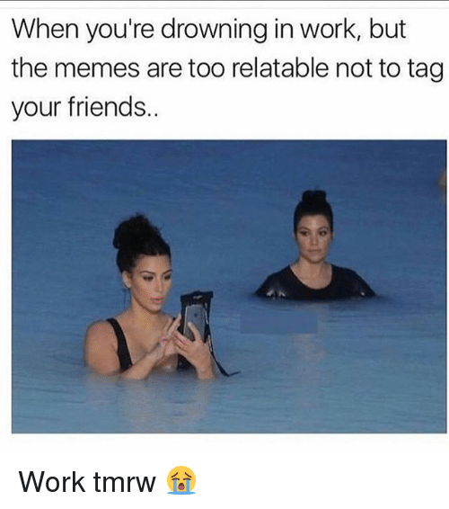 Funny Memes About Work Friends : When you re drowning in work but the memes are too