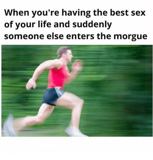 Best Sexes: When you're having the best sex  of your life and suddenly  someone else enters the morgue