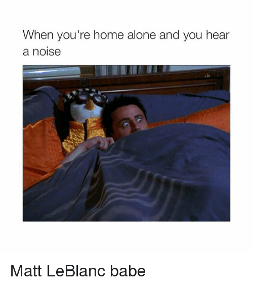 Home Alone, Matt LeBlanc, and Babes: When you're home alone and you hear  a noise Matt LeBlanc babe