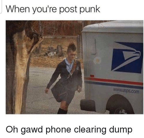 Phone, Com, and Punk: When you're post punk  www.isps.com  it Oh gawd phone clearing dump