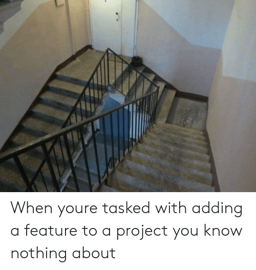 Project, You, and You Know Nothing: When youre tasked with adding a feature to a project you know nothing about