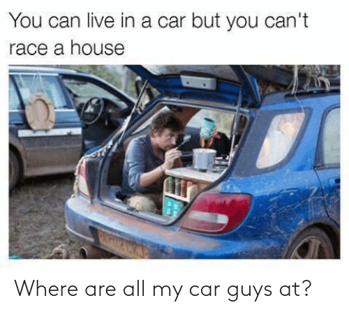 car: Where are all my car guys at?