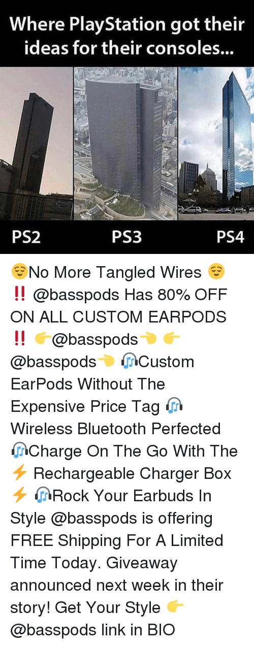 Tangled: Where PlayStation got their  ideas for their consoles...  PS2  PS3  PS4 😌No More Tangled Wires 😌 ‼️ @basspods Has 80% OFF ON ALL CUSTOM EARPODS ‼️ 👉@basspods👈 👉@basspods👈 🎧Custom EarPods Without The Expensive Price Tag 🎧Wireless Bluetooth Perfected 🎧Charge On The Go With The ⚡️ Rechargeable Charger Box ⚡️ 🎧Rock Your Earbuds In Style @basspods is offering FREE Shipping For A Limited Time Today. Giveaway announced next week in their story! Get Your Style 👉 @basspods link in BIO