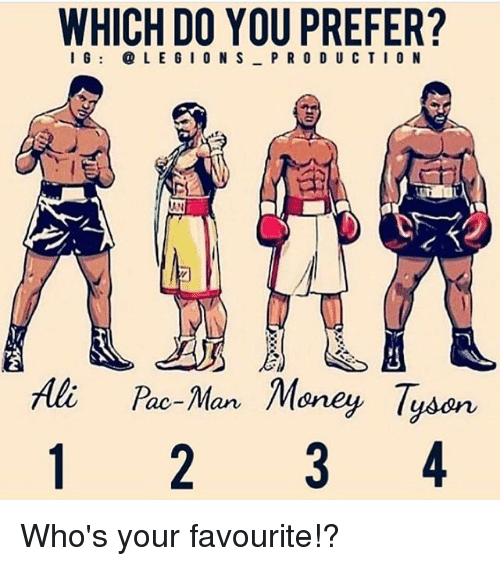 pac: WHICH DO YOU PREFER?  I 6LEGIONS PRO D U CTION  Ali Pac-Man Money Tysen Who's your favourite!?
