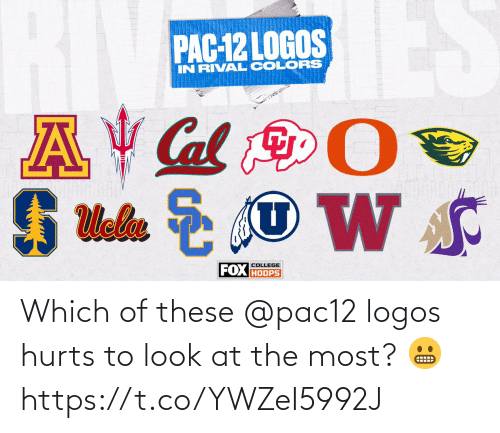 The Most: Which of these @pac12 logos hurts to look at the most? 😬 https://t.co/YWZeI5992J