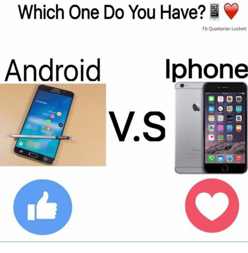 lockett: Which One Do You Have?  Fb: Quantarian Lockett  Android Iphone  VS