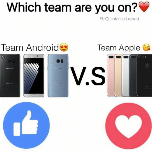 lockett: Which team are you on?  Fb Quant arian Lockett  Team Android  Team Apple