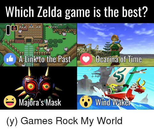 wind waker: Which Zelda game is the best?  LIFE  LJ  A Link to the Past  Ocarina of Time  Majora's Mask Wind Waker (y) Games Rock My World