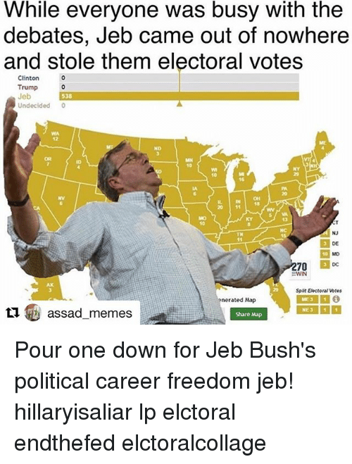 While Everyone Was Busy With The Debates Jeb Came Out Of Nowhere And