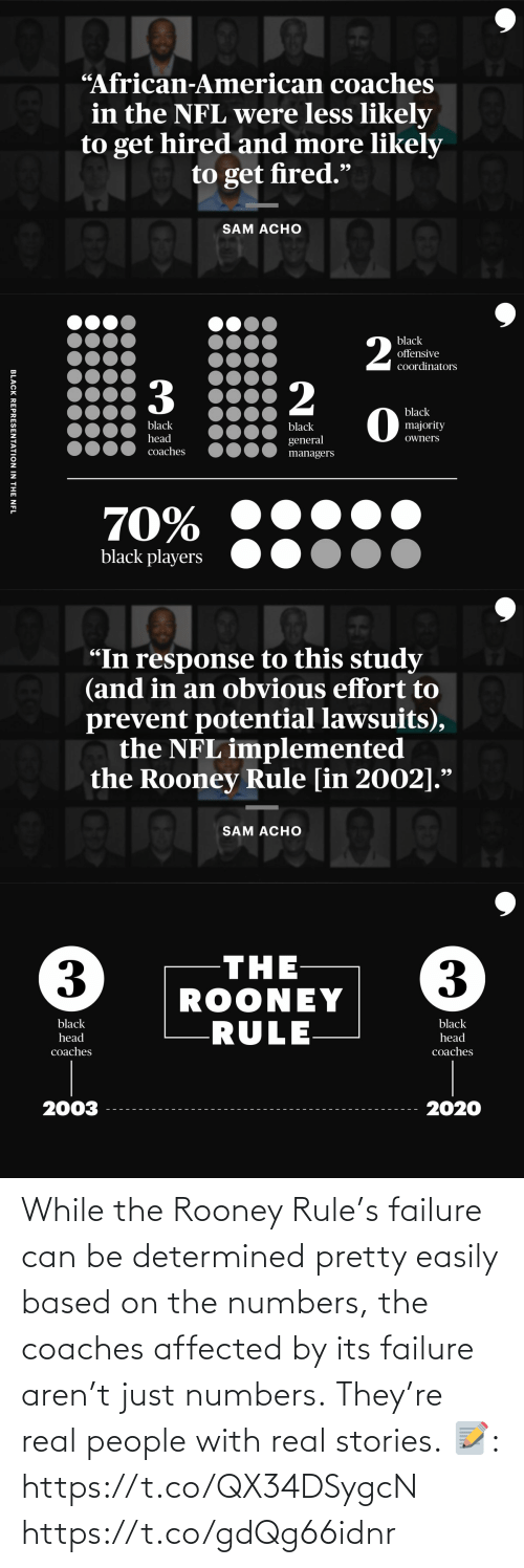 Aren: While the Rooney Rule's failure can be determined pretty easily based on the numbers, the coaches affected by its failure aren't just numbers.  They're real people with real stories.  📝: https://t.co/QX34DSygcN https://t.co/gdQg66idnr