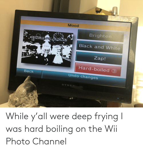 Deep Frying: While y'all were deep frying I was hard boiling on the Wii Photo Channel