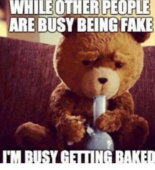 im busy: WHILEOTHER  PEOPLE  ARE BUSY BEING FAKE  I'M BUSY GETTING BAKED