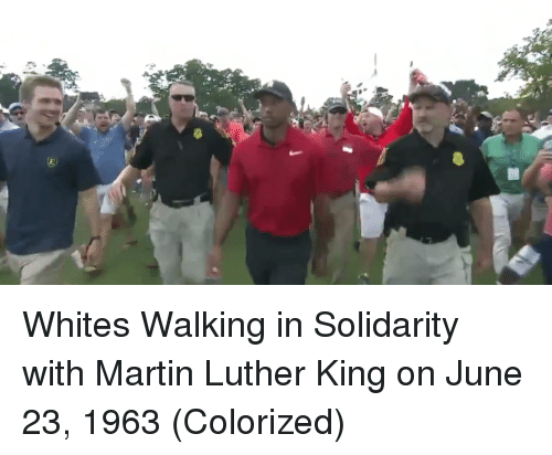 Martin, Martin Luther, and Martin Luther King: Whites Walking in Solidarity with Martin Luther King on June 23, 1963 (Colorized)