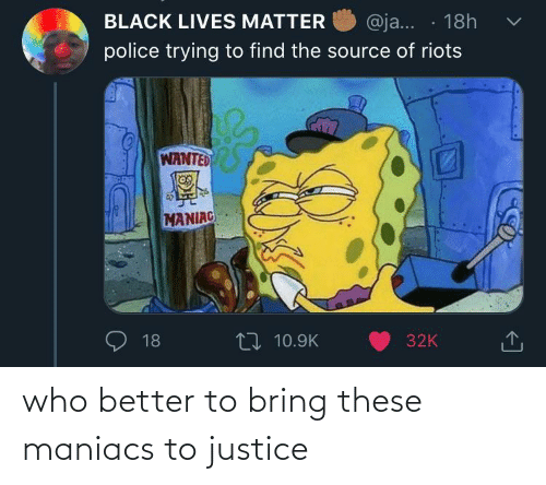 Justice: who better to bring these maniacs to justice