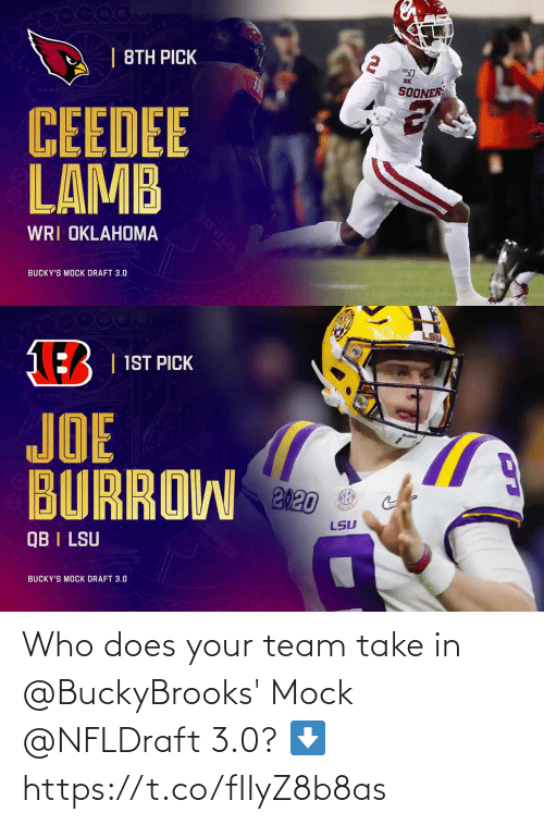 3 0: Who does your team take in @BuckyBrooks' Mock @NFLDraft 3.0? ⬇️ https://t.co/fIIyZ8b8as