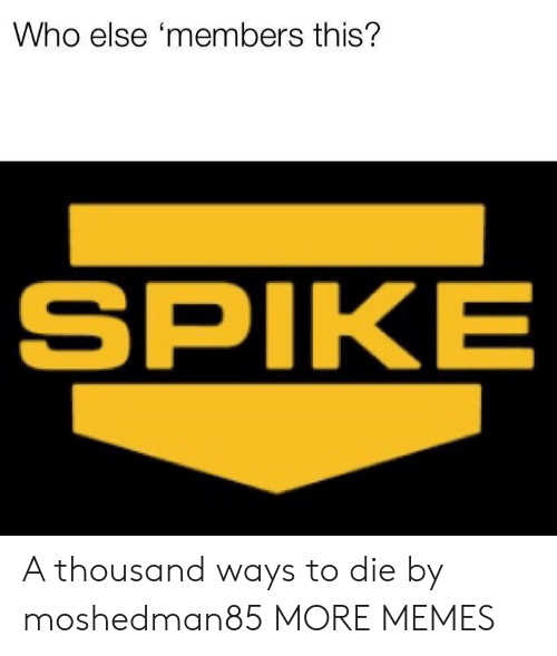 Dank, Memes, and Target: Who else 'members this?  SPIKE A thousand ways to die by moshedman85 MORE MEMES