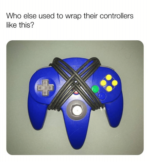 Memes, 🤖, and Who: Who else used to wrap their controllers  like this?