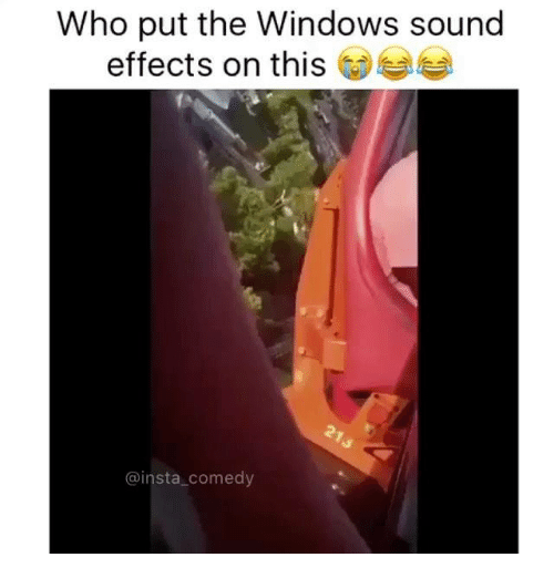 Insta Comedy: Who put the Windows sound  effects on this  @insta comedy