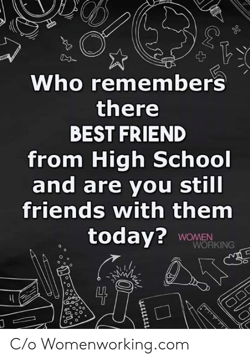 C O: Who remembers  there  BEST FRIEND  from High School  and are you still  friends with them  today? WOMEN  WORKING  0 C/o Womenworking.com