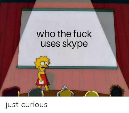 Skype: who the fuck  uses skype just curious