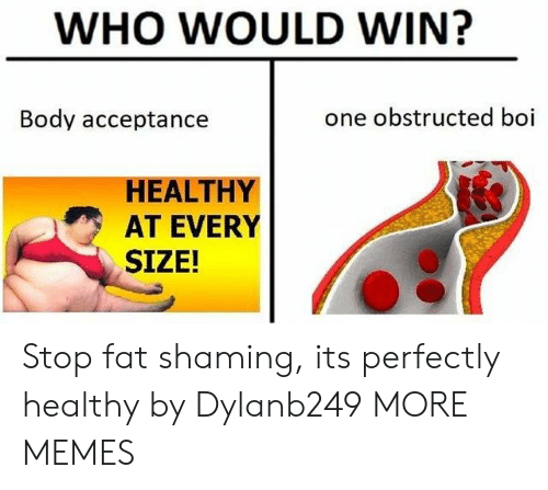 Dank, Memes, and Target: WHO WOULD WIN?  Body acceptance  one obstructed boi  HEALTHY  AT EVERY  SIZE! Stop fat shaming, its perfectly healthy by Dylanb249 MORE MEMES