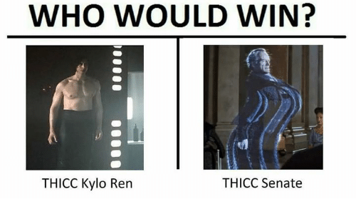 Kylo Ren: WHO WOULD WIN?  THICC Kylo Ren  THICC Senate