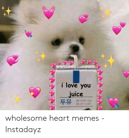 Wholesome Heart: wholesome.heantememes  i love you  juice  두유 wholesome heart memes - Instadayz