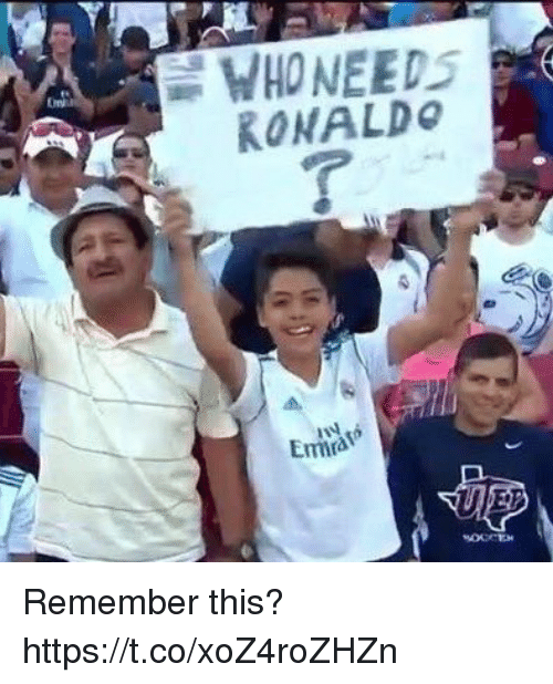 Memes, Ronaldo, and 🤖: WHONEEDS  RONALDo  Emra Remember this? https://t.co/xoZ4roZHZn