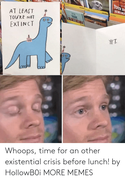 whoops: Whoops, time for an other existential crisis before lunch! by HollowB0i MORE MEMES