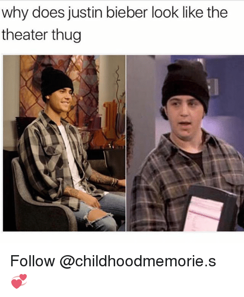Justin Bieber, Thug, and Trendy: why does justin bieber look like the  theater thug Follow @childhoodmemorie.s 💞