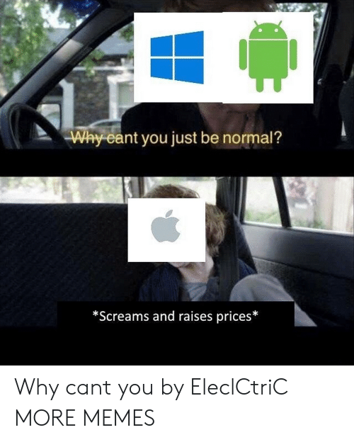 Be Normal: Why eant you just be normal?  *Screams and raises prices* Why cant you by EleclCtriC MORE MEMES