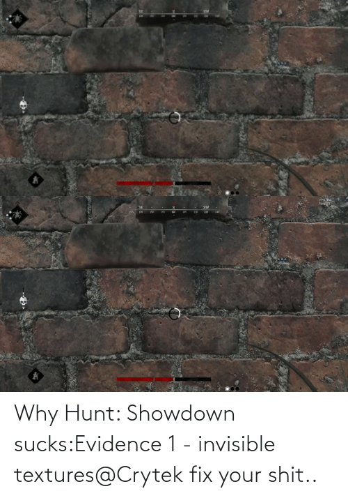 Showdown: Why Hunt: Showdown sucks:Evidence 1 - invisible textures@Crytek fix your shit..