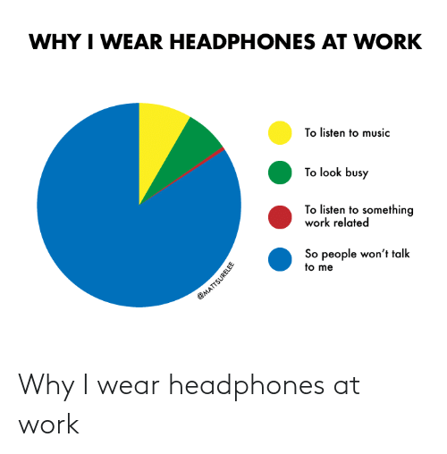 Headphones: Why I wear headphones at work